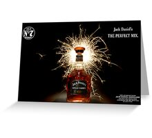 Party Time with Jack Daniels  Greeting Card