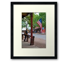 The Main Street of Tombstone Framed Print