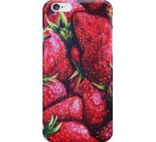 Ripe Juicy Fresh Strawberries iPhone Case/Skin