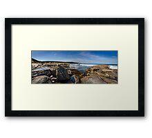Wyliabrup Rocks Panorama Framed Print