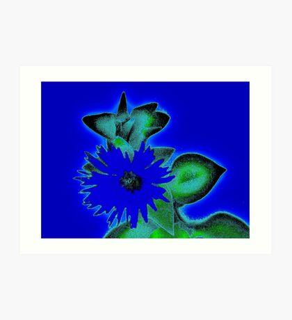 blue haze  Art Print