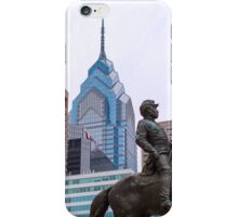General McClellan and the Philly Skyline iPhone Case/Skin