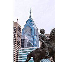 General McClellan and the Philly Skyline Photographic Print