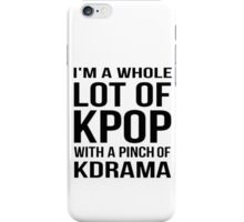 A LOT OF KPOP - WHITE iPhone Case/Skin