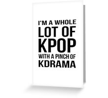 A LOT OF KPOP - WHITE Greeting Card