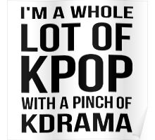 A LOT OF KPOP - WHITE Poster