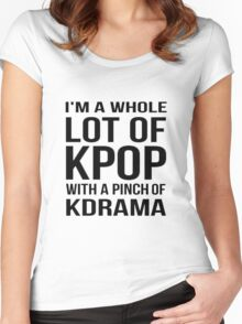 A LOT OF KPOP - WHITE Women's Fitted Scoop T-Shirt