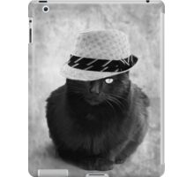 The cat with hat  iPad Case/Skin