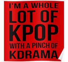 A LOT OF KPOP - RED Poster