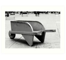 Monopoly Wheelbarrow Art Print