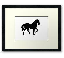 Horse Silhoutte Framed Print