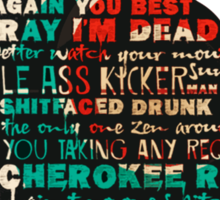 Dixon All Quotes - TWD Nerd Must Have Sticker