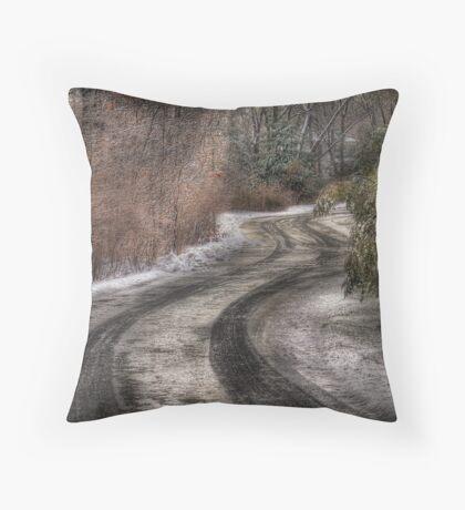 The hidden road Throw Pillow