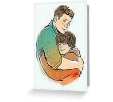 Hugging Weechesters Greeting Card