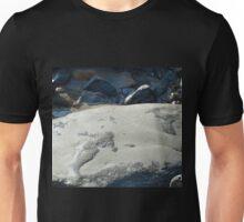 Figures in a large Rock at Lyme, Dorset UK Unisex T-Shirt