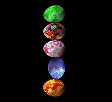 colorfull eggs by M J