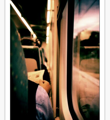 Man on train - Lomo LCA xpro lomographic analog 35mm film Sticker