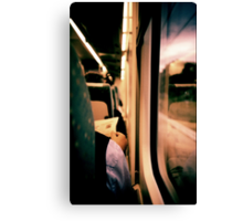 Man on train - Lomo LCA xpro lomographic analog 35mm film Canvas Print