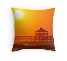 Folly Pier, SC Throw Pillow