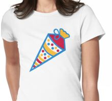 Colored school cone Womens Fitted T-Shirt