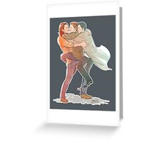 Team Free Will Hug Greeting Card
