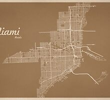 Miami map by GRAPHiMA