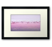 Pink beach Framed Print