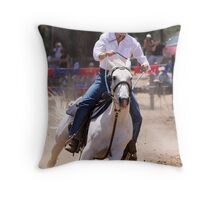 Race to the Barrel Throw Pillow