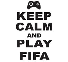 Keep Calm and Play Fifa xbox Photographic Print