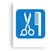 Scissors comb icon Canvas Print