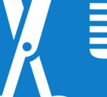 Scissors comb icon Sticker
