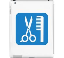 Scissors comb icon iPad Case/Skin