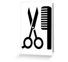 Comb scissors Greeting Card