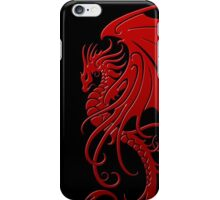 Flying Red Tribal Dragon iPhone Case/Skin