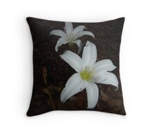 Atamasca Lilies Throw Pillow