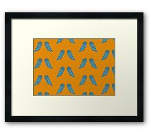 The Day of the Owls - Orange/Teal Framed Print