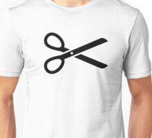 Black scissors Unisex T-Shirt