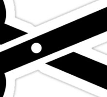 Black scissors Sticker