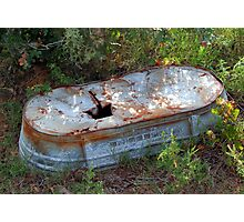 The Old Bath Tub Photographic Print