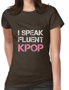 I SPEAK FLUENT KPOP - BLACK Womens Fitted T-Shirt