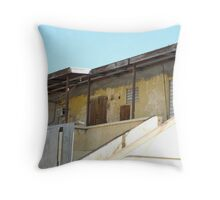 Yello virgin island slum building Throw Pillow