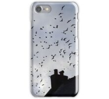 Flying over the rooftops iPhone Case/Skin