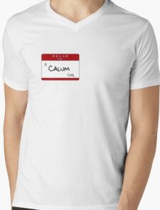 NEW calum girl name tag Mens V-Neck T-Shirt