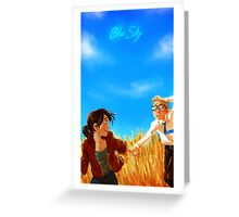 Blue Sky Greeting Card