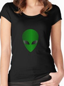 Simple Alien Design Women's Fitted Scoop T-Shirt