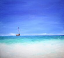 Ship at Anchor by Linda Ridpath