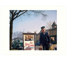 US Navy Yeoman Next to Recruitment Poster Art Print
