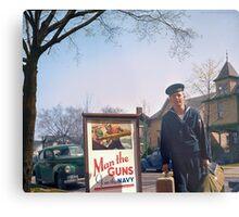 US Navy Yeoman Next to Recruitment Poster Metal Print
