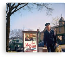 US Navy Yeoman Next to Recruitment Poster Canvas Print