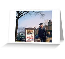 US Navy Yeoman Next to Recruitment Poster Greeting Card
